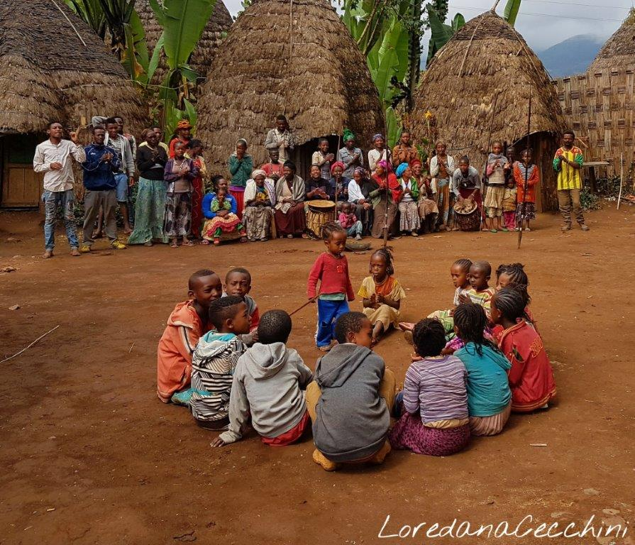 Bambini di etnia Dorze