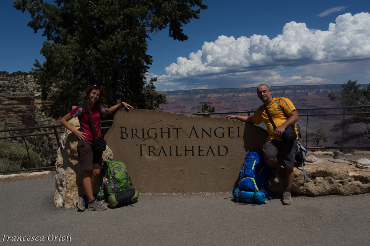 All'arrivo del Bright Angel Trail