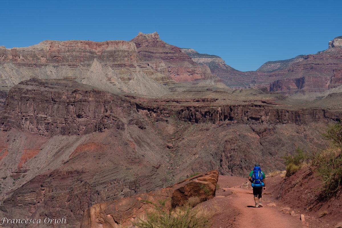 Grand canyon discesa dal south rim un mondo intorno for Grand canyon north rim mappa della cabina