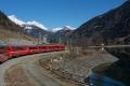 Il Trenino Rosso vicino al confine