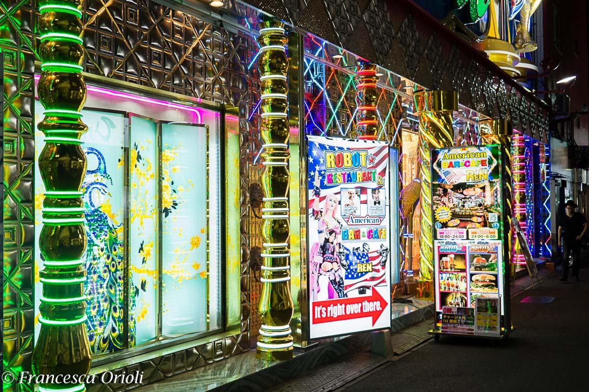 Tokyo quartiere  a luci rosse Kabukicho
