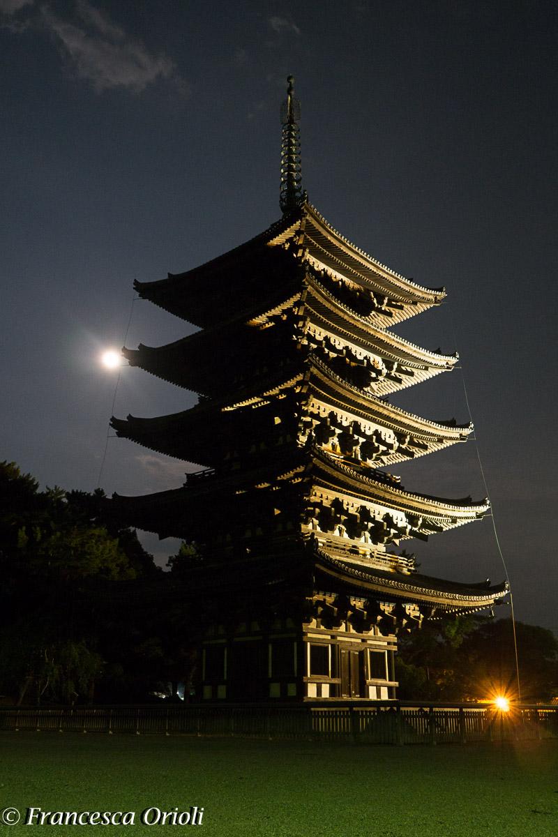 Nara pagoda nel parco Nara Koen