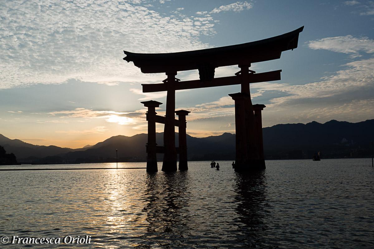 Miyajima: il torii nell'acqua