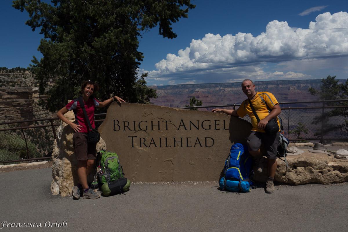 All'arrivo del Bright Angel Trail