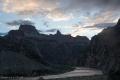 Il Colorado dal Bright Angel Trail ore 6.00