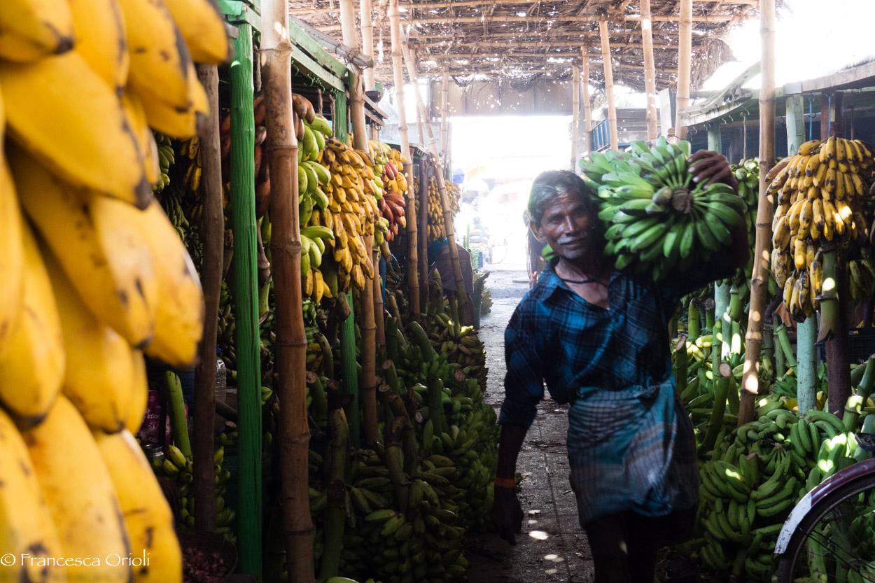 Madurai mercato delle banane